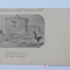Postales: ALBERT LLANAS, DIBUIXOS DE MODEST URGELL. ANTERIOR A 1905. 8,7 X 13,7 CM.. Lote 17333700