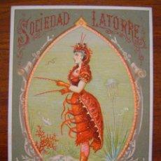 Postales: ENTRADA BAILE DE MASCARAS - CARNAVAL 1883 - SOCIEDAD LATORRE TEATRO ROMEA - BARCELONA. Lote 26694867