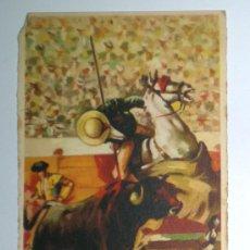 Postales: TOROS. TAUROMAQUIA. POSTAL TURINA. ESCRITA EN 1955. ED. PABLO DÜMMATXEN. Lote 26602110