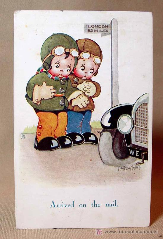 ANTIGUA POSTAL, Nº 5050, LONDON, APPOINTMENT, RAPHAEL TUCKS, OLLETTE, CUTE KIDDIES (Postales - Dibujos y Caricaturas)