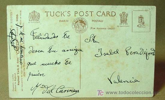 Postales: ANTIGUA POSTAL, Nº 5050, LONDON, APPOINTMENT, RAPHAEL TUCKS, OLLETTE, CUTE KIDDIES - Foto 2 - 19170030