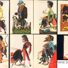 Postales: 10 TARJETOCARICATURAS DE TOREROS DE DÁ VILA. Lote 19133867