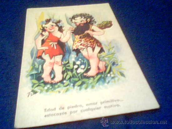 POSTAL ANTIGUA ESCRITA. AÑO 1945 (Postales - Dibujos y Caricaturas)