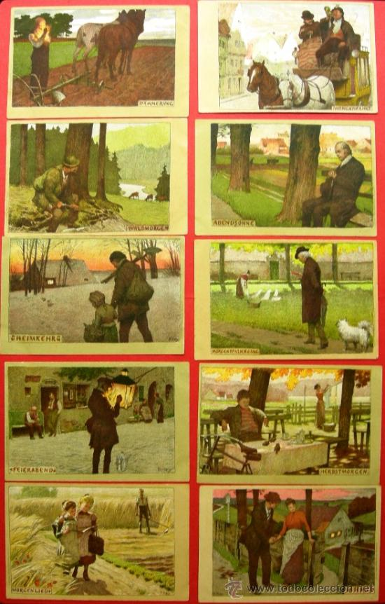 Postales: 10 POSTALES ANTIGUAS ORIGINALES (14 X 9 CM) - ALEMANIA - Foto 2 - 21565529