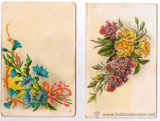 Dos Antiguas Postales De Dibujos De Flores Troq Vendido En Venta
