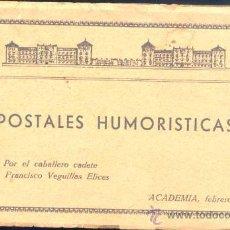 Postales: POSTALES HUMORÍSTICAS REALIZADAS POR EL CADETE D. FRANCISCO VEGUILLAS ÉLICES (ASESINADO POR ETA ). Lote 22275767