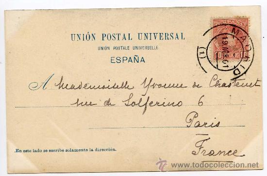 Postales: En la Iglesia. Hauser y Menet nº 560. De Blanco y Negro. Circulada en 1901 - Foto 2 - 22615142