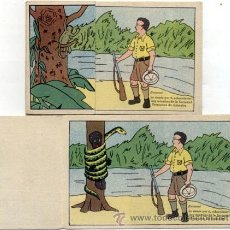 Postales: POSTAL ILUSTRADA / HUMOR / DESPLEGABLE DOS ESCENAS / ED.KAF N. 93 / AÑOS 60. Lote 179951213