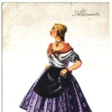 Postales: POSTAL TRAJE REGIONAL DE ALICANTE, PUBLICIDAD REVERSO PRONITOL. Lote 24157700