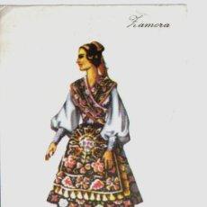 Postales: POSTAL TRAJE REGIONAL DE ZAMORA, PUBLICIDAD REVERSO PRONITOL. Lote 24157716