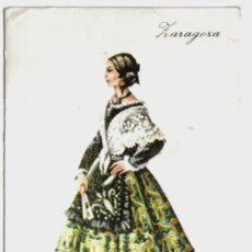 Postales: POSTAL TRAJE REGIONAL ZARAGOZA , PUBLICIDAD REVERSO PRONITOL. Lote 24157912
