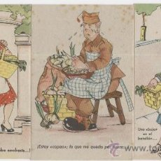 Postales: LOTE DE 3 POSTALES. COLECCIÓN SOLDADOS. ESCENAS DEL SERVICIO MILITAR. AÑOS 1940. Lote 23820826