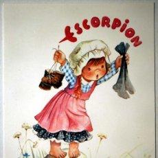 Postales: ESCORPION. DEL 23 OCTUBRE AL 21 NOVIEMBRE. SIGNO DE AGUA. C.Y Z. 6002-A. DIBUJO DE CONSTANZA.. Lote 103076380