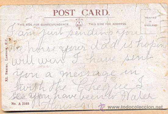 Postales: POST 502 - XL SERIES . LONDON Nº A 2103 - POSTAL JOCOSA SOBRE LA POLITICA - Foto 2 - 24704911
