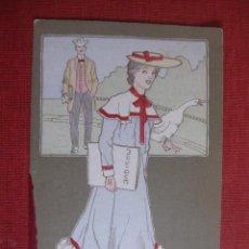 Postales: POSTAL MUJER LIBRO MUSICA.. Lote 24796336