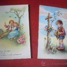 Postales: DOS POSTALES (ESCRITAS ). Lote 24846760