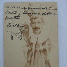 Postales: CARICATURA DE ALFONSO XIII. ESCRITA Y FECHADA EL 11-V-06.. Lote 26443573