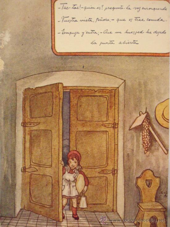 Bonita postal dibujo ni os ni a abriendo pue comprar - Puertas para ninos ...