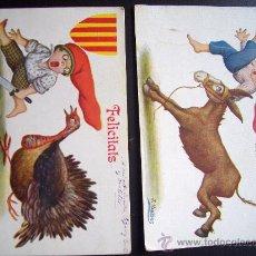 Postales: LOTE 2 POSTALES J IBAÑEZ POSTAL ILUSTRADA CARICATURA AÑOS 1920 EDICIONES VICTORIA N COLL SALIEN . Lote 25740964