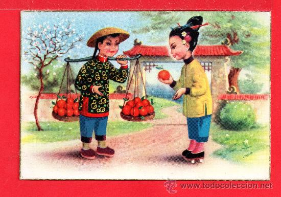 BONITA POSTAL DE CHINITO Y CHINITA SIN CIRCULAR (Postales - Dibujos y Caricaturas)