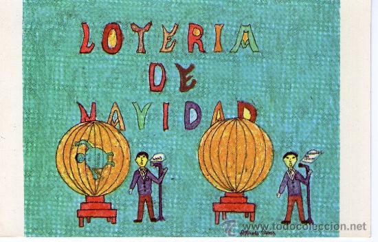 Dibujos De Loteria De Navidad.Postal Con Dibujo De La Loteria De Navidad Colegio San Ildefonso
