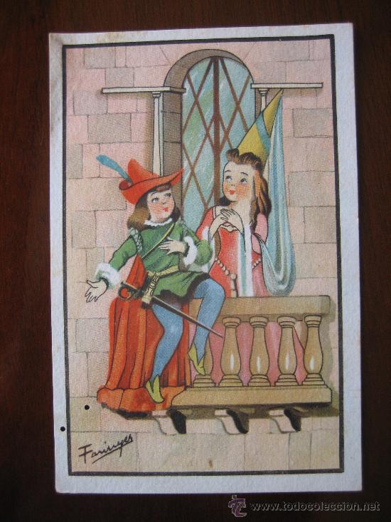 Postal Dibujo Caricaruta Pareja Novios Medieval Comprar Postales