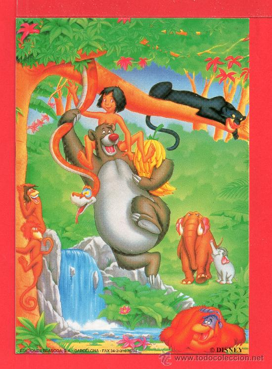 POSTAL DE EL LIBRO DE LA SELVA DISNEY EDITADA POR BEASCOA S.A. BARCELONA SIN CIRCULAR (Postales - Dibujos y Caricaturas)