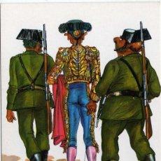Cartoline: BONITA POSTAL DE HUMOR - TORERO ESCOLTADO POR LA PAREJA DE LA GUARDIA CIVIL. Lote 250221830