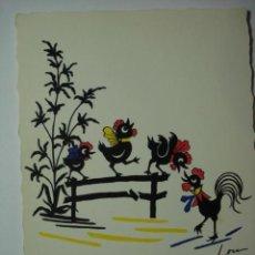Postales: 141 PRECIOSA POSTAL DIBUJO GALLINAS - AÑOS 1950 - MAS EN MI TIENDA. Lote 28284934