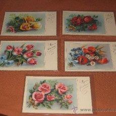 Postales: 5 POSTALES MUCHAS FELICIDADES (SIRENITA). Lote 28818274