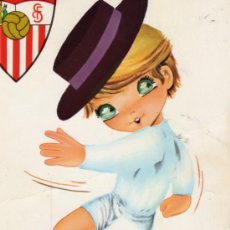 Postales: SEVILLA FUTBOL CLUB ESCRITA CIRCULADA SELLO. Lote 28342705