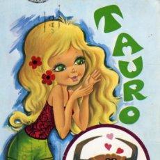 Postales: POSTAL HORÓSCOPO TAURO EDICIONES CYZ ESCRITA CIRCULADA SELLO. Lote 28342812
