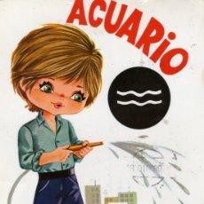 Postales: POSTAL HORÓSCOPO ACUARIO CIRCULADA SELLOS SAVIR. Lote 28401759