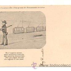 Postales: ALBERT LLANAS. DIBUIXOS DE MODEST URGELL. 'UNA GROSSA DE PENSAMENTS EN VERS'. . Lote 28749248