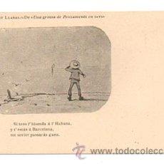 Postales: ALBERT LLANAS. DIBUIXOS DE MODEST URGELL. 'UNA GROSSA DE PENSAMENTS EN VERS'. . Lote 28749952