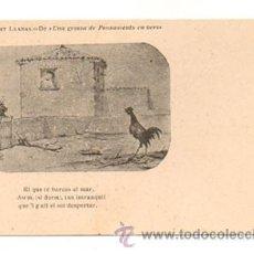 Postales: ALBERT LLANAS. DIBUIXOS DE MODEST URGELL. 'UNA GROSSA DE PENSAMENTS EN VERS'. . Lote 28750027