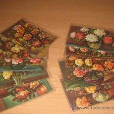 Postales: 10 POSTALES DE FLORES. Lote 28834783