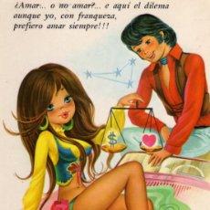 Postales: POSTAL HORÓSCOPO LIBRA ESCRITA CIRCULADA SELLO EDICIONES CYZ. Lote 28846170