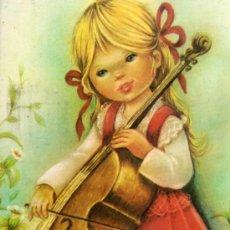 Postales: POSTAL MUSICIENS Nº 1 ESCRITA CIRCULADA DOS SELLOS EDICIONES BERGAS . Lote 28846403