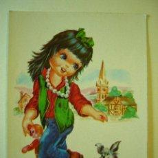 Postales: POSTAL ILUSTRADA. BERGAS. ESCRITA Y CIRCULADA. Lote 29064046