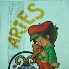 Postales: POSTAL ILUSTRADA ARIES. BERGAS. ESCRITA Y CIRCULADA. Lote 29119126