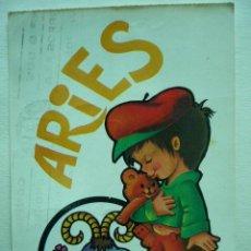 Postales: POSTAL ILUSTRADA ARIES. BERGAS. ESCRITA Y CIRCULADA. Lote 29119327
