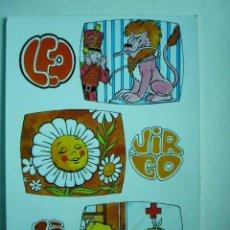 Postales: POSTAL ILUSTRADA. LEO, LIBRA Y VIRGO. ESCRITA Y CIRCULADA. Lote 29196910