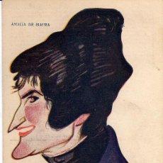 Postales: AMALIA DE ISAURA -ACTRIZ Y CANTANTE- (BIOGRAFÍA AL DORSO).- CARICATURA DE MANUEL TOVAR DE 1919.-. Lote 29277076