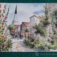 Postales: POSTALES-ILE DE RE-ACUARELA DE ABRAHAM-D2. Lote 29552883