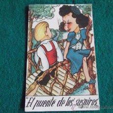 Postales: PAREJAS-E4-EL PUENTE DE LOS SUSPIROS-SERIE Nº6-CIFESA. Lote 30003332