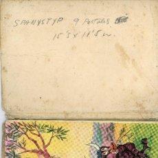 Postales: 9 POSTALES SPANISTYP, CARTERITA DE 15,5X11,5CM. TURISTICAS.. Lote 30350901