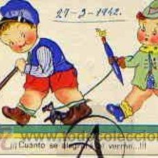 Postales: NIÑOS: ¡CUÁNTO SE ALEGRARÁ AL VERME...!!!. Lote 30688359