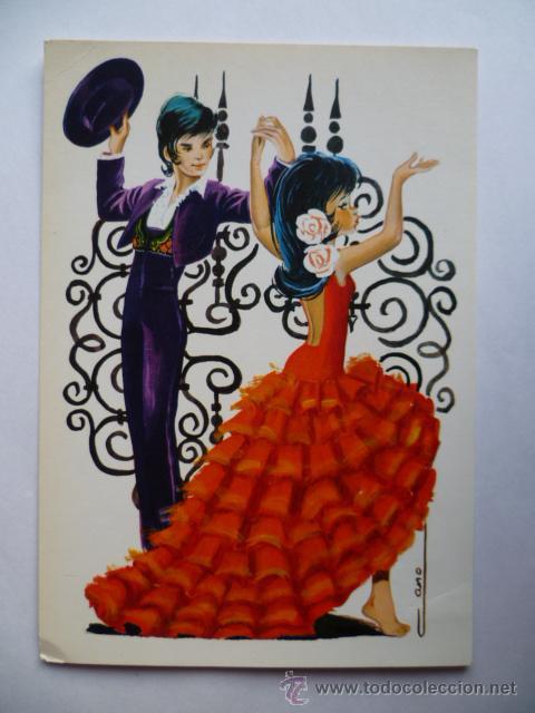 postal bailarines de flamenco no circulada  Comprar Postales