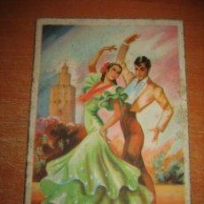 Postales: BAILES ANDALUCES Nº 10 SEGUIDILLAS POSTAL MADRID. Lote 31185656
